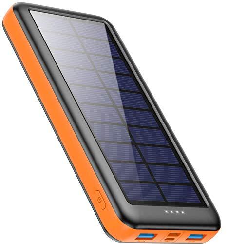 Feob Cargador Solar 26800mah, Power Bank Solar【IC de Control Inteligente】con Entradas de Tipo-C,...
