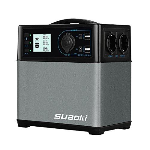 SUAOKI - 400Wh/120,000mAh Generador Portátil Solar, Cargador de Batería Almacenamiento Suministro...