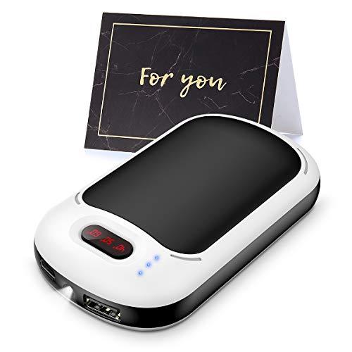 Calentador de Manos Recargable USB, Batería Externa de 7800mAh, Reusable Calentadores de Manos...