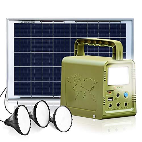 ECO-WORTHY 84Wh Sistema de Iluminación de Generador Solare de Estación de Energía Portátil con...
