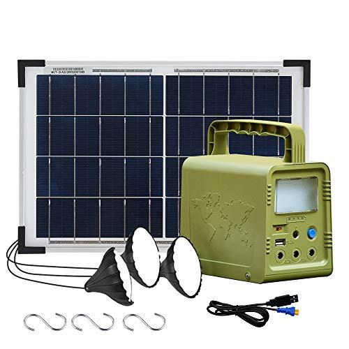 ECO-WORTHY 84 Wh Sistema de kit de iluminación de generador solar de estación de energía...